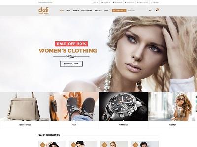 Deli – eCommerce HTML Template for Fashion Shop – 5 Dollar HTML