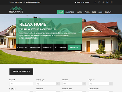 Relax Home – Real Estate Bootstrap Template – 5 Dollar HTML
