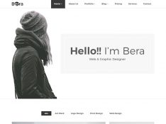 Berra - Minimal Portfolio Template